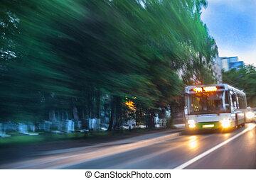rue ville, va, autobus
