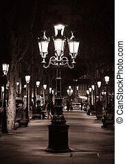 rue ville, vieux, barcelone, lumière
