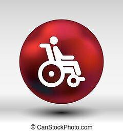 rueda, accesible, desventaja, inválido, discapacitada /...