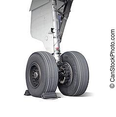 rueda, avión