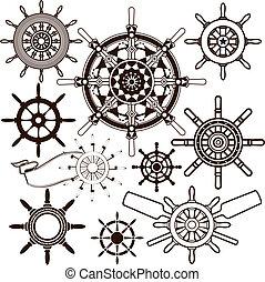 rueda, barco, colección