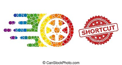 rueda, coche, mosaico, bolide, estampilla, espectro, atajo, caucho