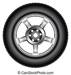 rueda de aleación, neumático