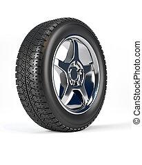 rueda de coche, neumático