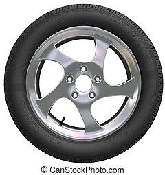 rueda de coche