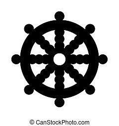 rueda, dharma, budista
