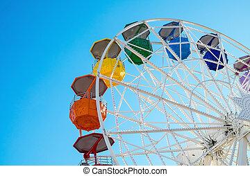 rueda, ferris, colorido