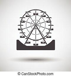 rueda, ferris, icono