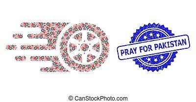 rueda, icono, neumático, sello, paquistán, rogar, estampilla, recursion, composición, angustia