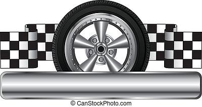 rueda, logotipo, diseño