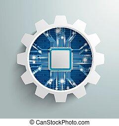 rueda, luces,  Microchip, engranaje