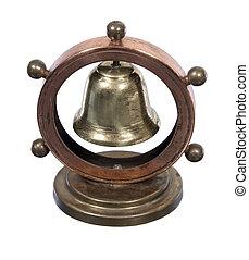 rueda, náutico, entrepuente, campana