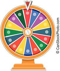 rueda, plano, diseño, fortuna, plantilla