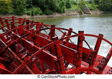 rueda,  rive,  Tennessee, barco, paleta