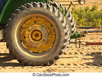 rueda, tractor