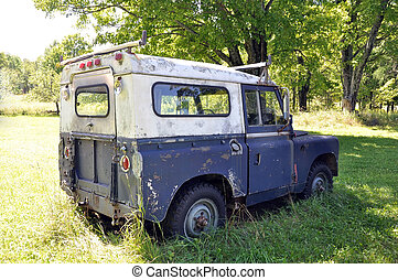 rueda, utilizado, más viejo, bien, cuatro, vehículo