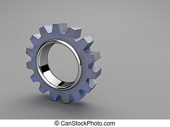 rueda, vidrio, engranaje