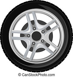 rueda, y, neumático