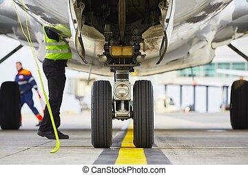 ruedas, avión
