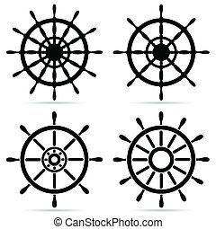 ruedas, conjunto, entrepuente