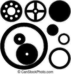 ruedas dentadas, vector