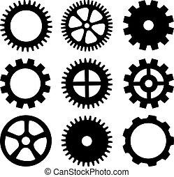 ruedas, vector