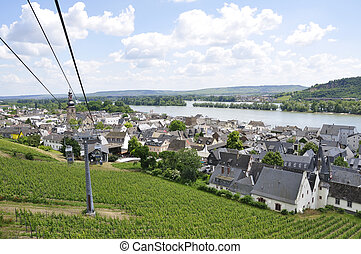 Ruedesheim, Germany - Ruedesheim is a winemaking town in the...