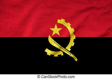 Ruffled Angola Flag