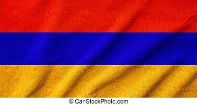 Ruffled Armenia Flag