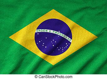 Ruffled Brazil Flag
