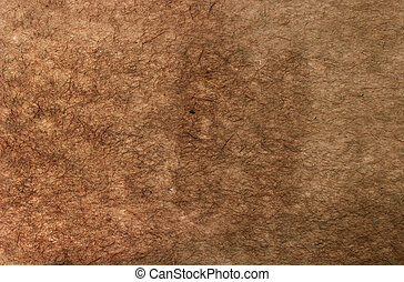 Ruffled Brown Paper - old kraft paper with deep spotted...