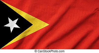 Ruffled East Timor Flag
