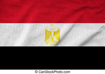 Ruffled Egypt Flag