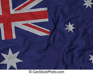 Ruffled Flag of Australia