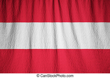 Ruffled Flag of Austria Blowing in Wind