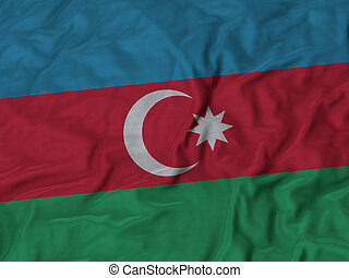 Ruffled Flag of Azerbaijan