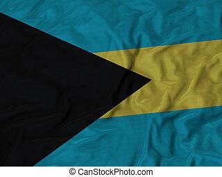 Ruffled Flag of Bahamas