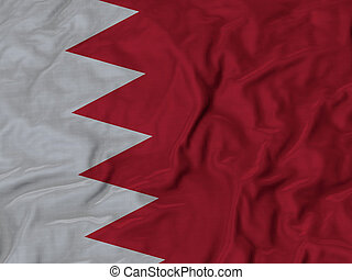 Ruffled Flag of Bahrain
