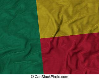 Ruffled Flag of Benin