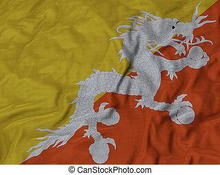 Ruffled Flag of Bhutan