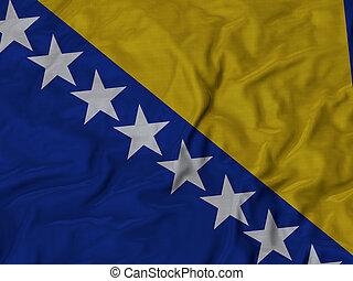 Ruffled Flag of Bosnia