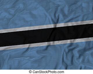 Ruffled Flag of Botswana