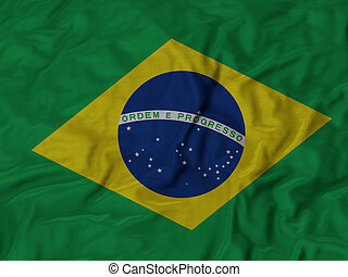 Ruffled Flag of Brazil
