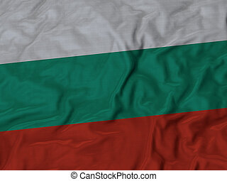 Ruffled Flag of Bulgaria