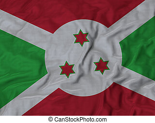 Ruffled Flag of Burundi