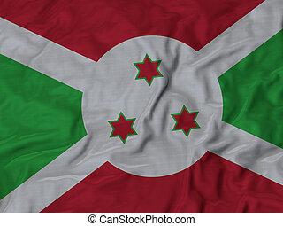 Ruffled Flag of Burundi