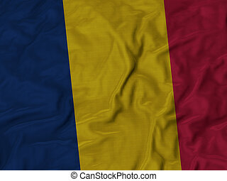 Ruffled Flag of Chad