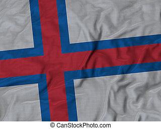 Ruffled Flag of Faroe Islands