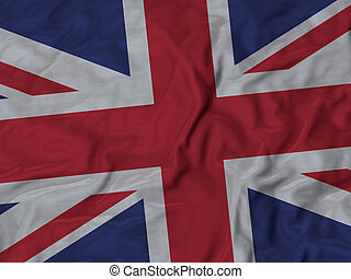 Ruffled flag of United Kingdom