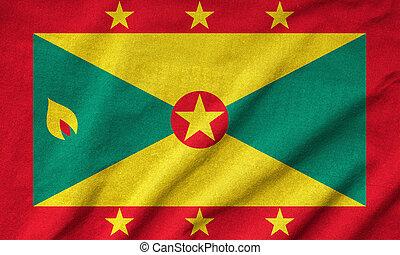Ruffled Grenada Flag